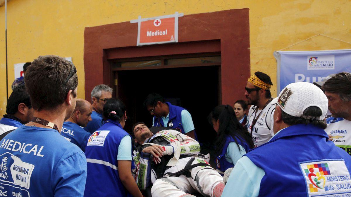 """Ignacio Casale relata su accidente en el Dakar: """"Pasé un salto y no recuerdo nada más"""""""