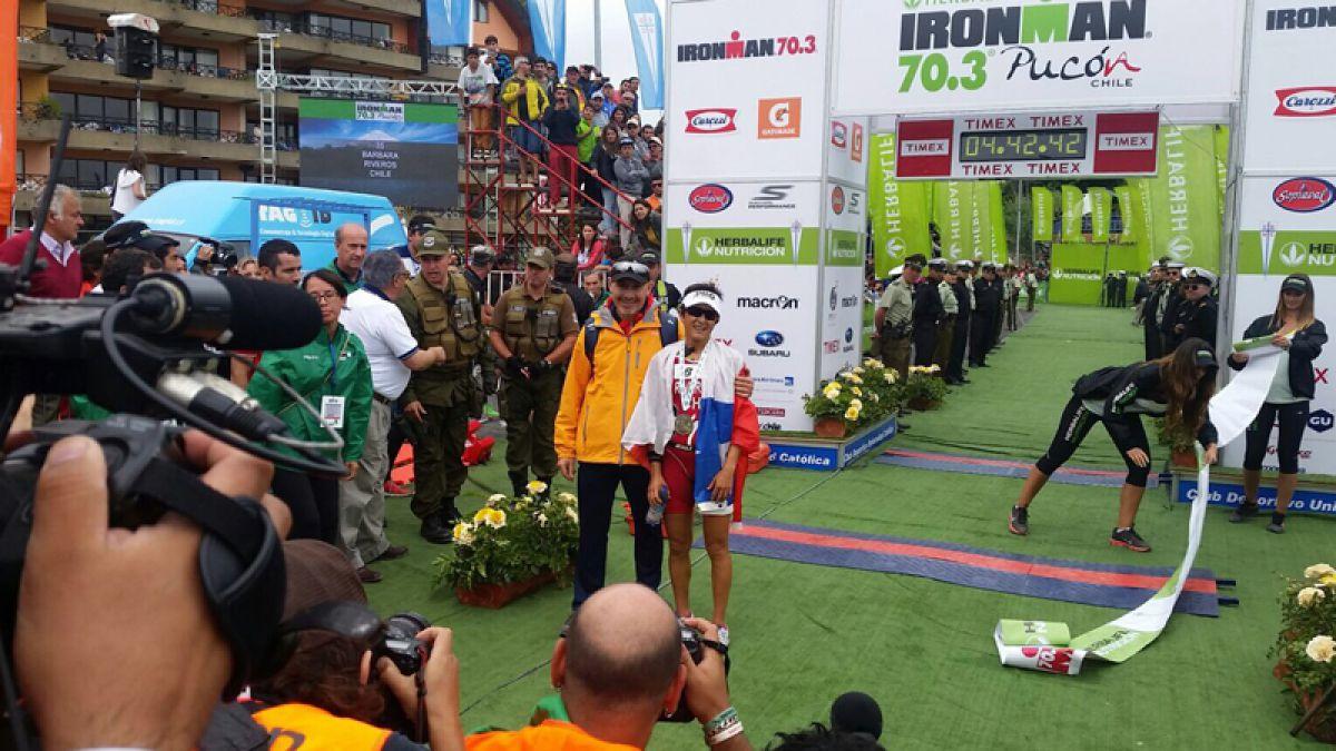 [VIDEO] Repite la hazaña: Bárbara Riveros bicampeona del Ironman 70.3 de Pucón