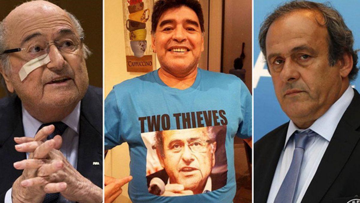 Maradona envía duro mensaje a Blatter y Platini