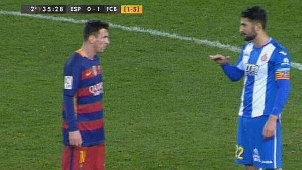 La notable respuesta de Lionel Messi tras ser provocado por jugador del Espanyol