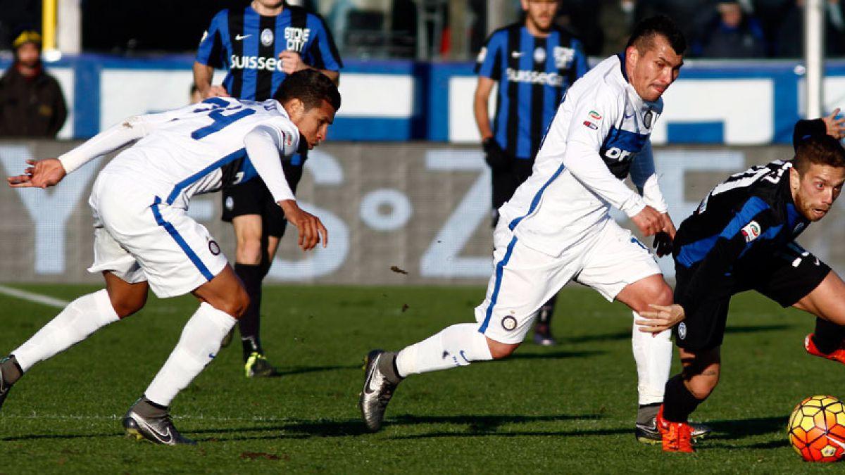 Gary Medel cumple destacada actuación en empate con autogoles del Inter de Milán