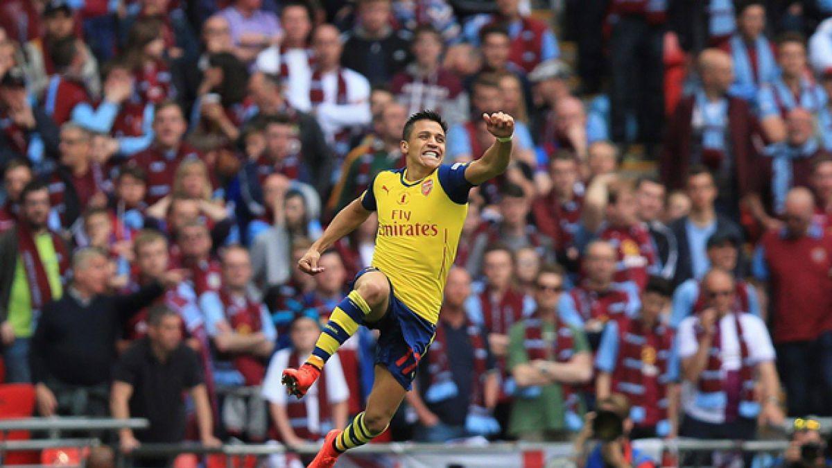 Gol de Alexis elegido el mejor del Arsenal en el 2015