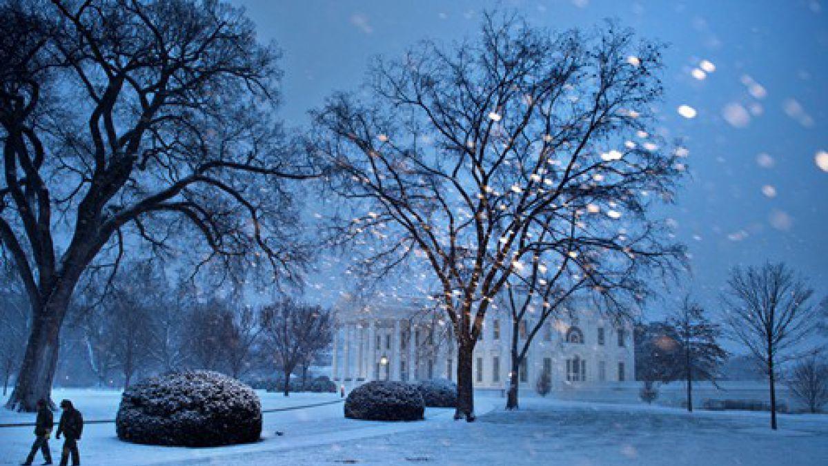 Gigantesca Tormenta De Nieve Cubre De Blanco A Washington