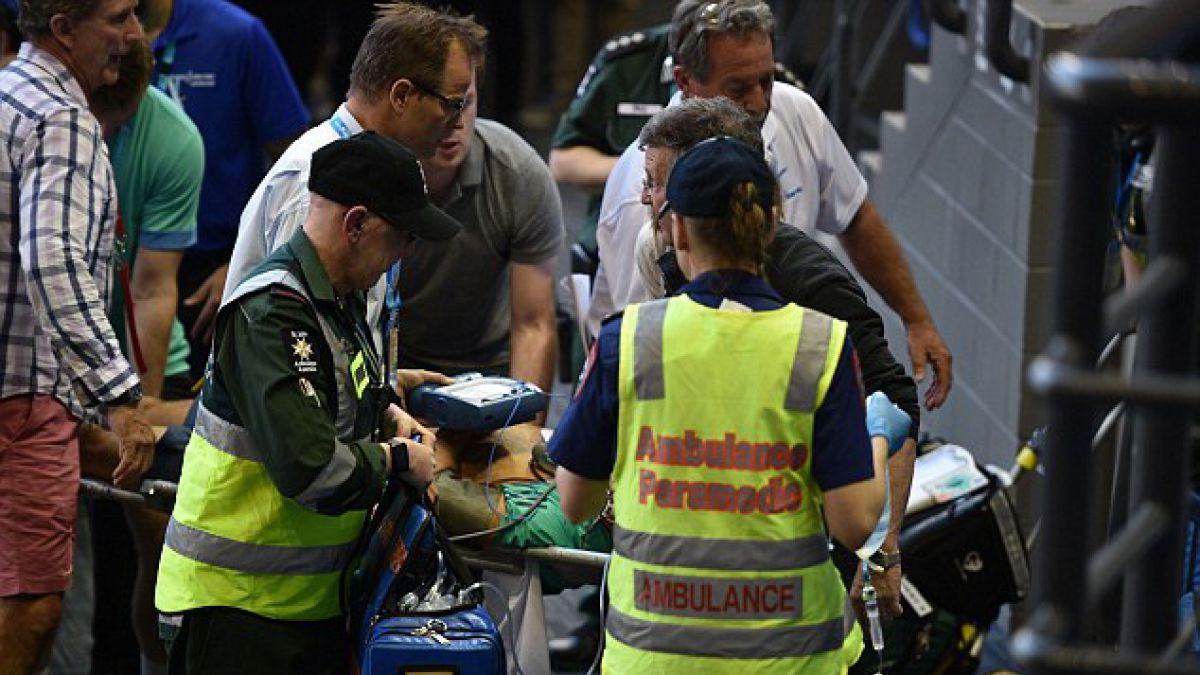 Entrenador de Ana Ivanovic sufre desvanecimiento en partido del Abierto de Australia