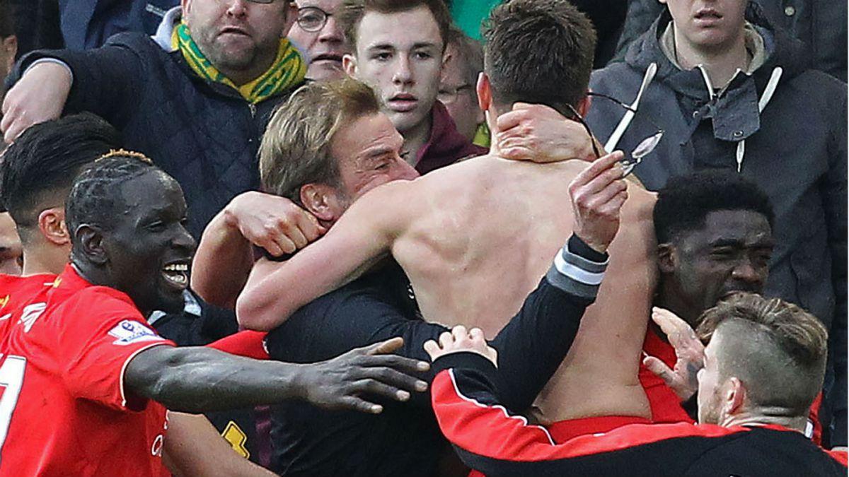 [VIDEO] La eufórica celebración de Jürgen Klopp por triunfo en los descuentos de Liverpool