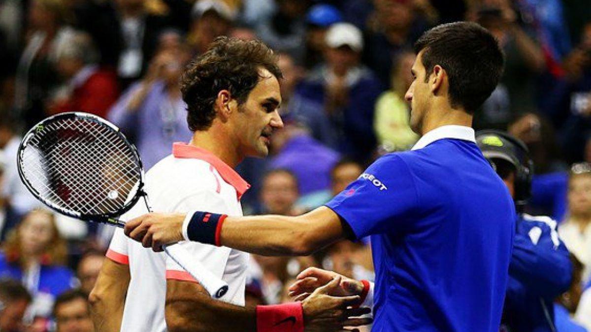 El espectacular puntazo con que maravillaron Novak Djokovic y Roger Federer en Australia