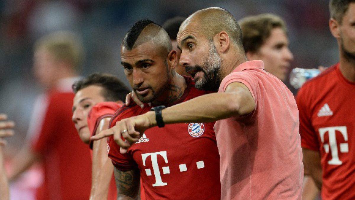 "Prensa alemana dice que Guardiola criticó a Vidal por ""poco profesionalismo"""