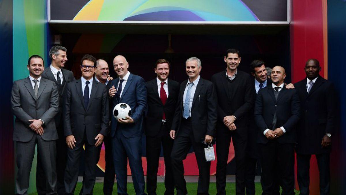 Roberto Carlos, Mourinho, Hierro y cracks del fútbol dan apoyo a Infantino para elecciones FIFA