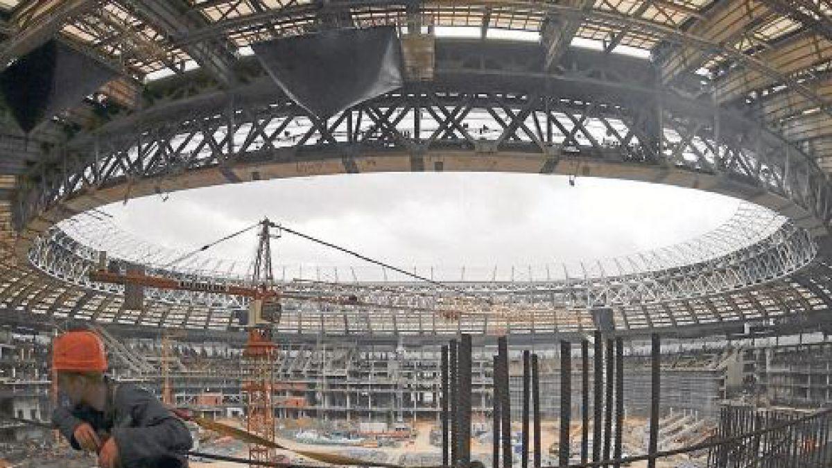 Estadios para Rusia 2018 siguen sus construcciones aunque con dificultades