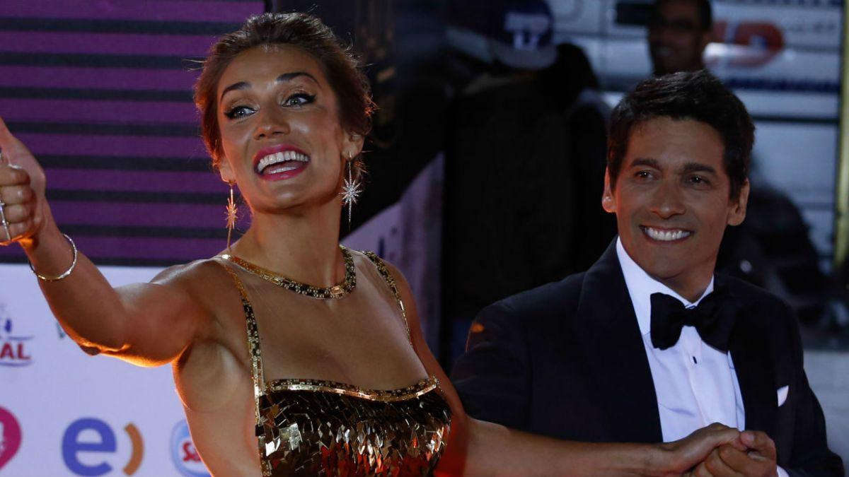 Carolina de Moras y Rafael Araneda en una de las galas de Viña