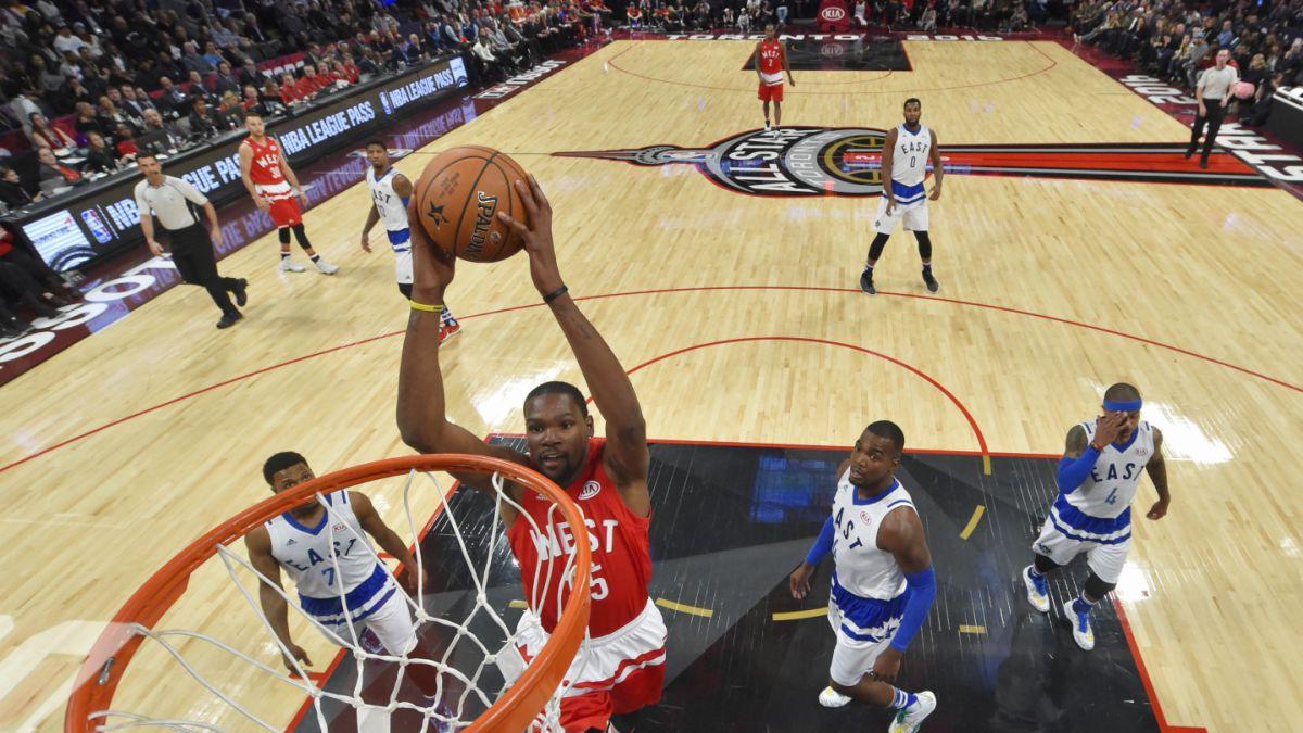 Equipo del Oeste vence al Este en Juego de Estrellas de la NBA