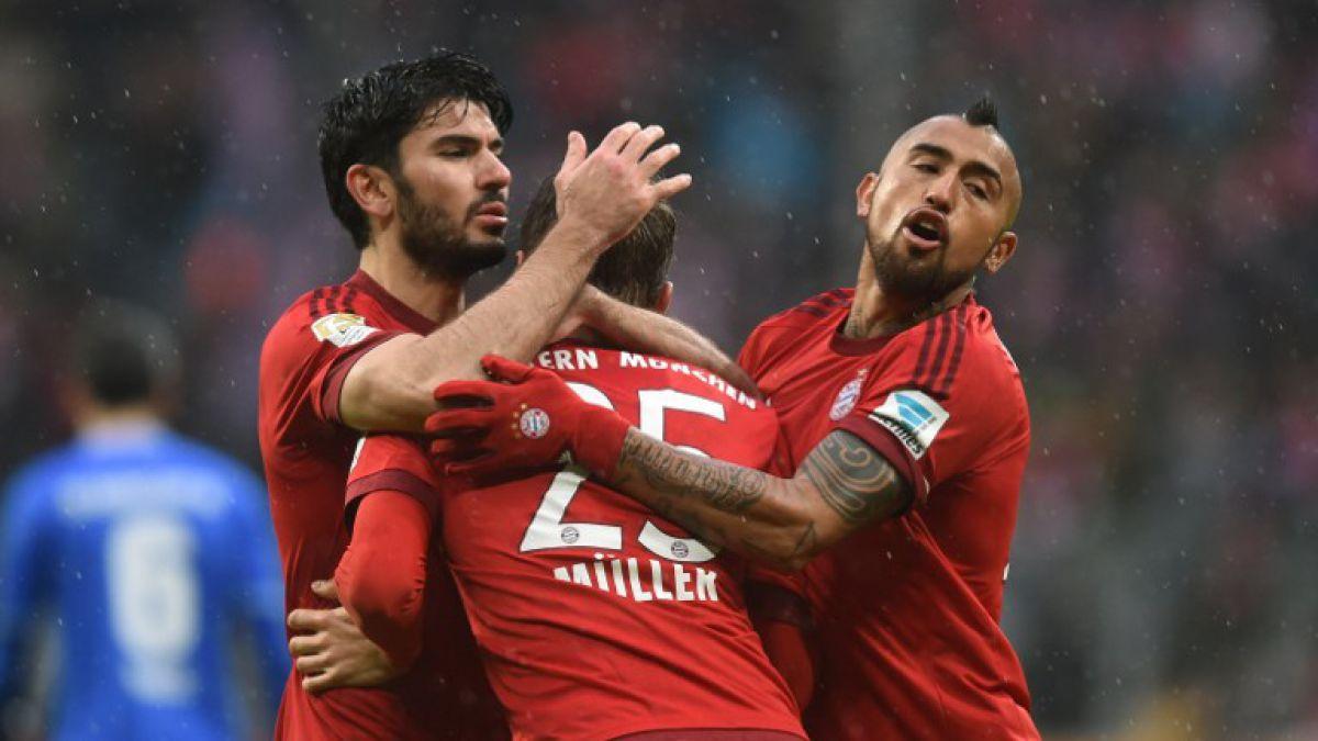 Arturo Vidal aporta gran pase gol en triunfo del líder Bayern Munich