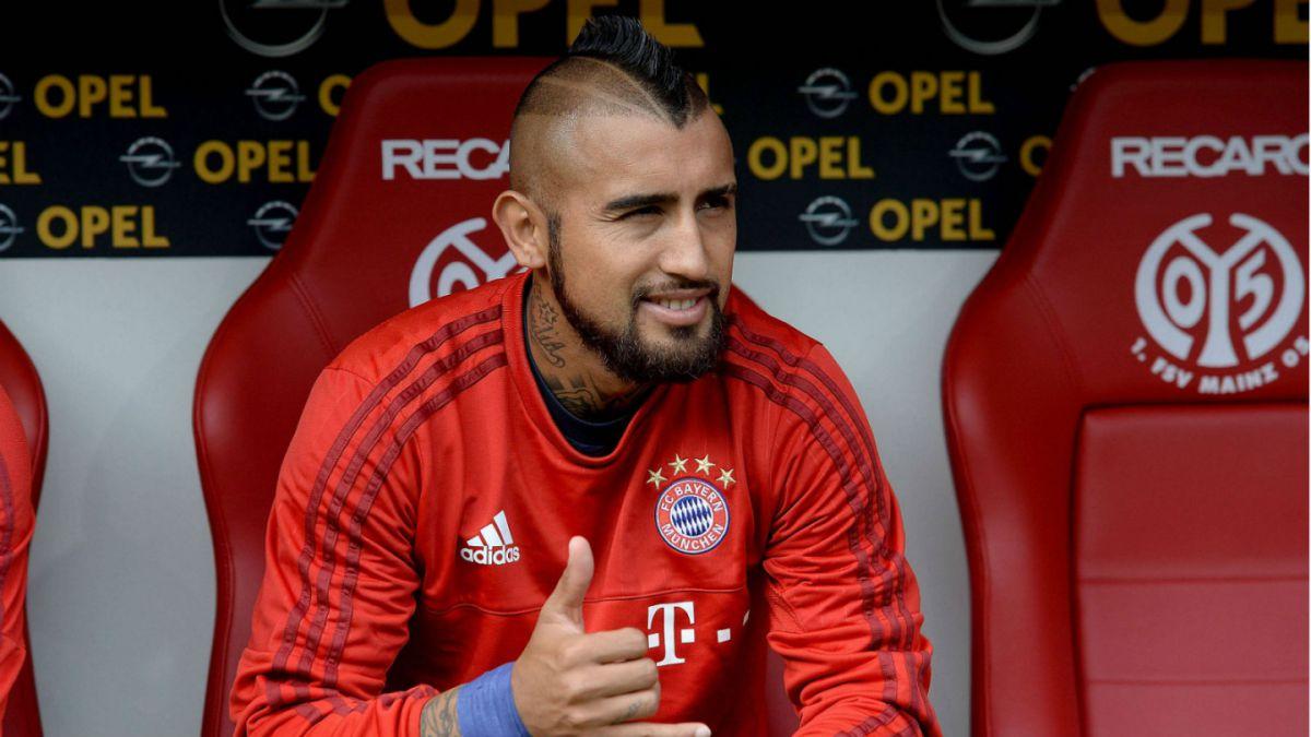 El chileno estuvo sentado en el banco de suplentes del Bayern en los primeros partidos del año.