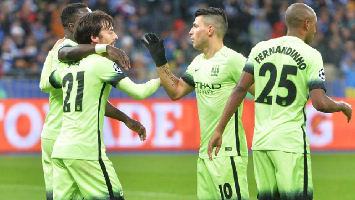Manchester City da el primer golpe frente a Dinamo de Kiev en la Champions League