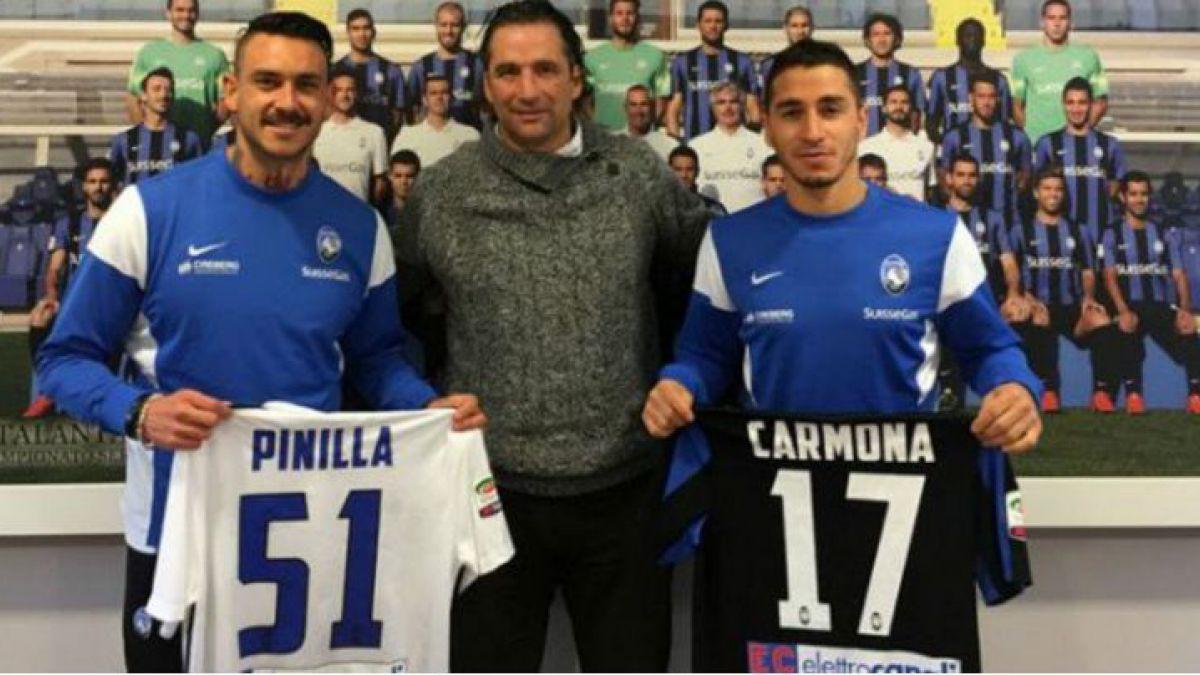Pizzi visitó a Mauricio Pinilla y Carlos Carmona en el Atalanta