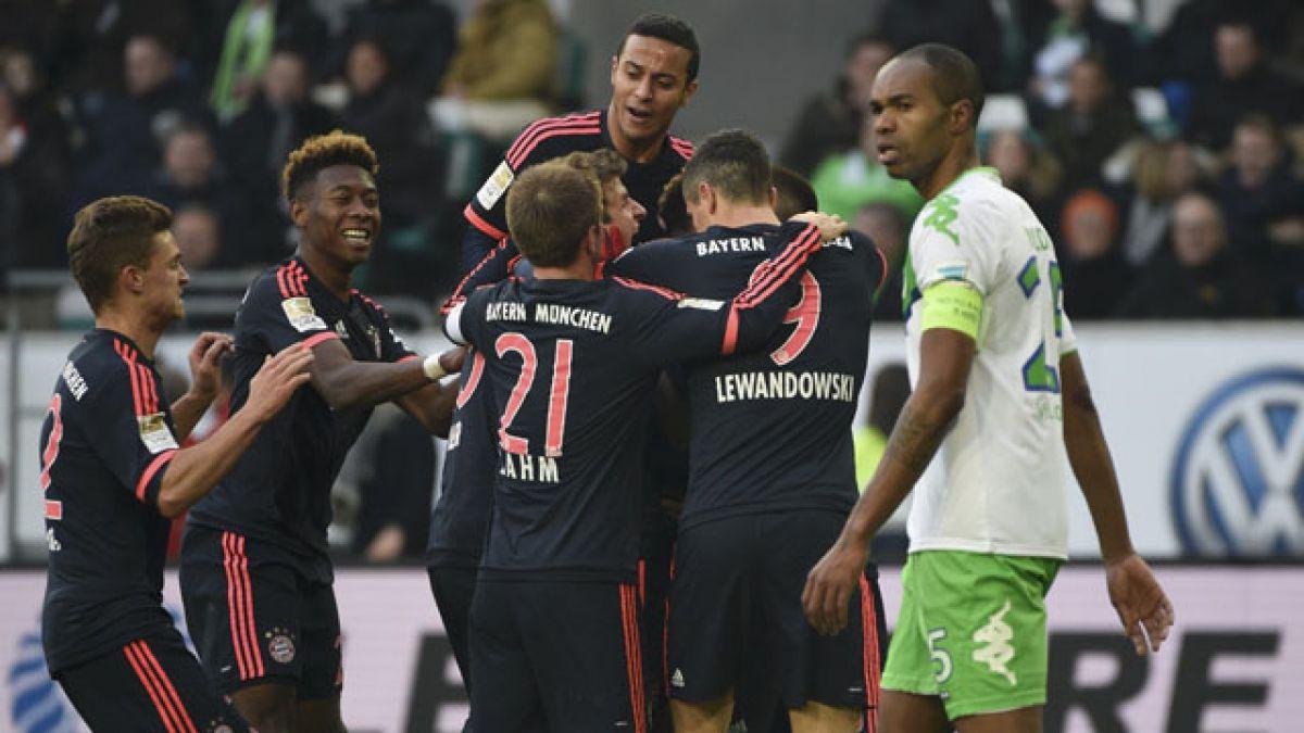 Bayern Munich sin Vidal vence a Wolfsburgo por la Bundesliga