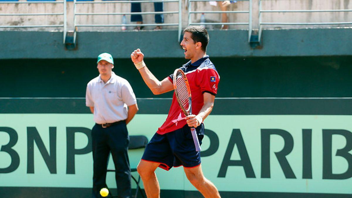 """Hans Podlipnik tras su triunfo en Copa Davis: """"Estuve bastante sólido y el físico no me falló"""""""
