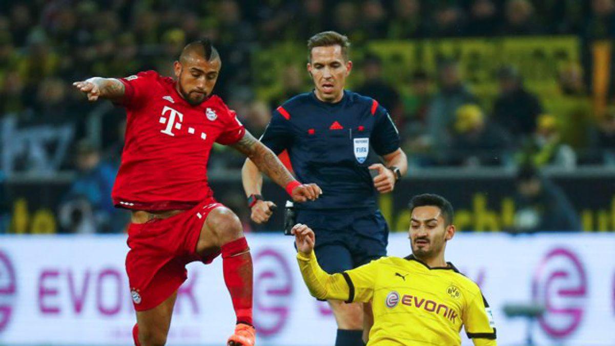 Clásico alemán: Dortmund y Bayern reparten puntos con Vidal como figura