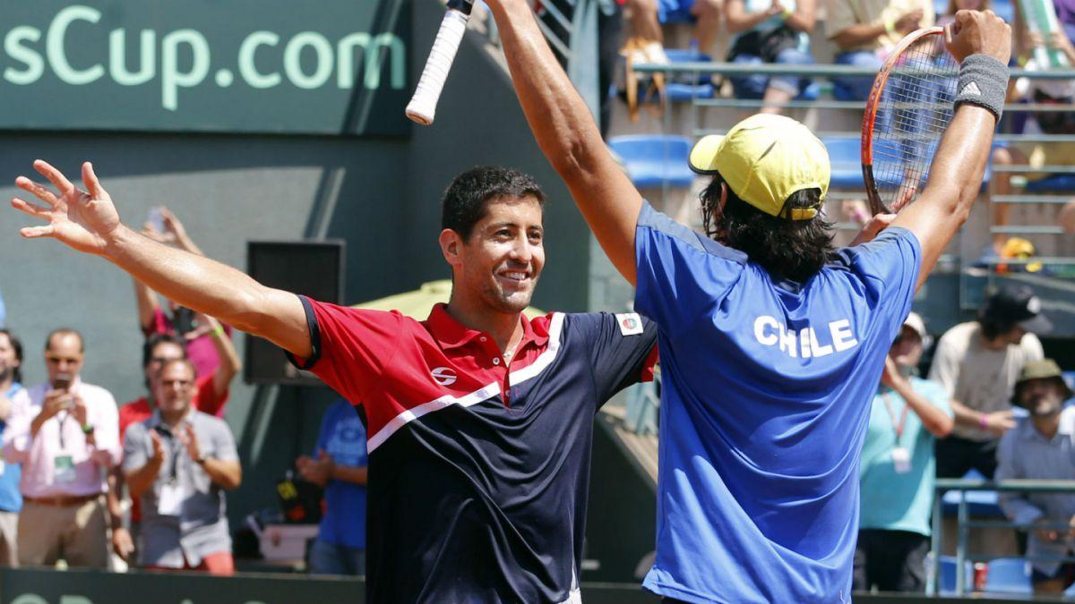 Chile busca acercarse a un récord en los dos últimos puntos de la Copa Davis
