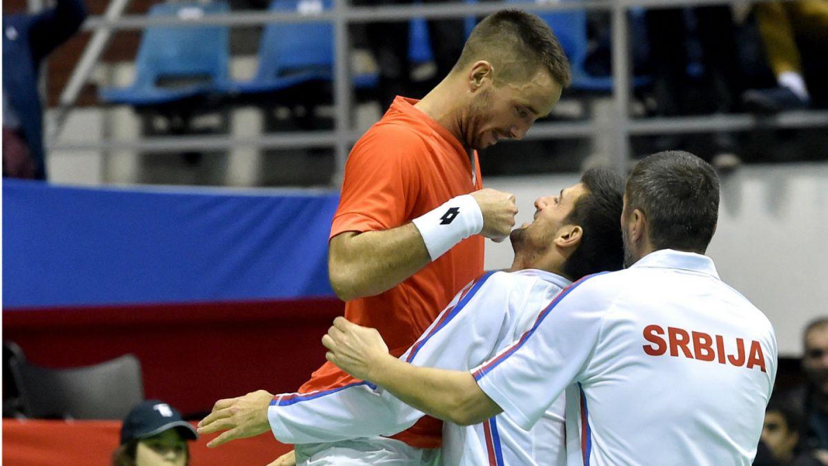 Copa Davis: Serbia remonta serie y enfrentará a Gran Bretaña en cuartos de final