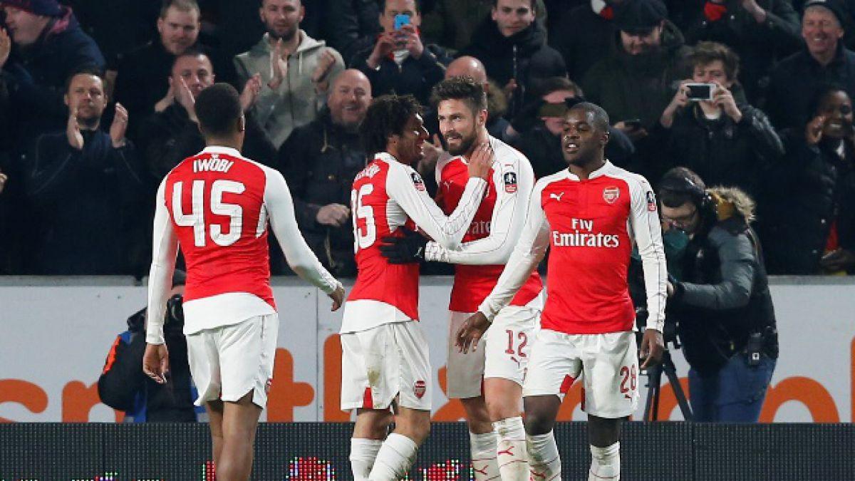 Arsenal golea al Hull City y se instala en los cuartos de la Copa FA