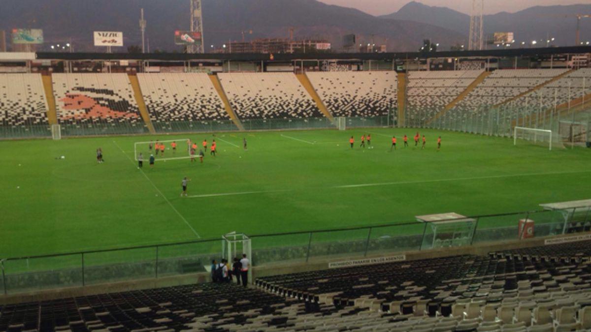 La práctica de Atlético Mineiro en el Monumental de cara al duelo ante Colo Colo