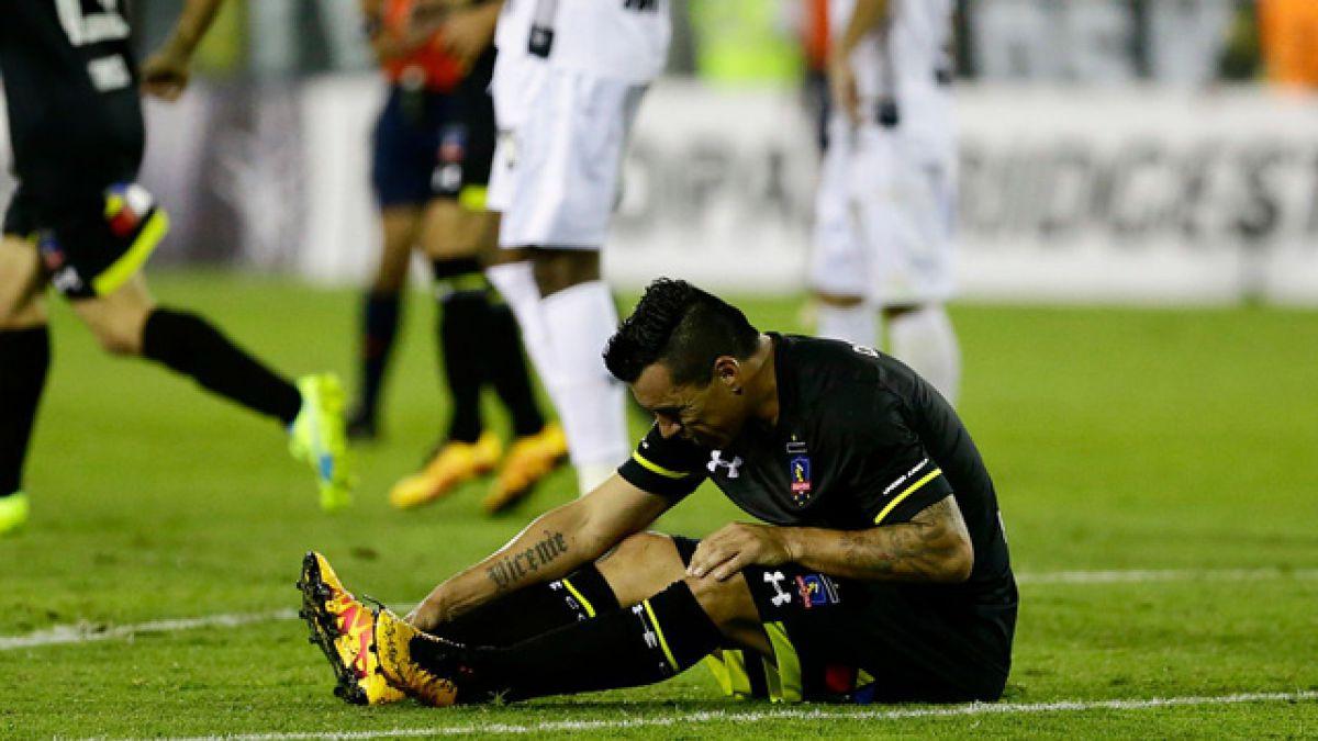 Esteban Paredes sufre lesión en duelo ante Atlético Mineiro