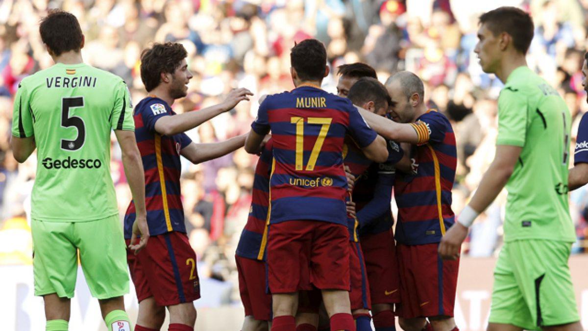 FC Barcelona de Claudio Bravo golea a Getafe por la Liga española