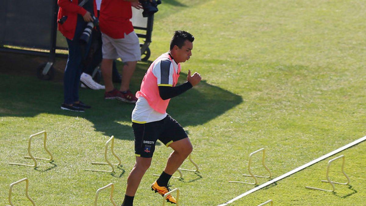 """DT de Colo Colo pone en duda presencia de Esteban Paredes ante la U: """"Lo evaluaremos"""""""