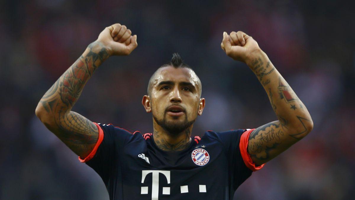 Arturo Vidal jugó 36 minutos en triunfo del líder Bayern Munich en Alemania
