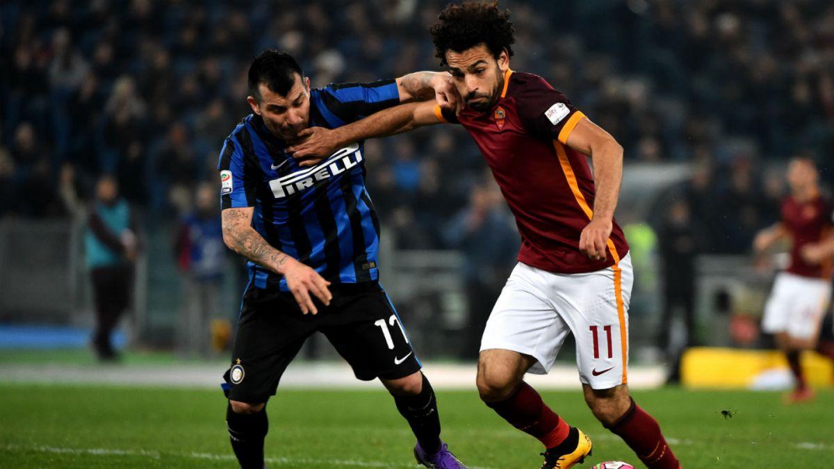 Inter de Milán descuida ventaja y empata en los últimos minutos ante la Roma