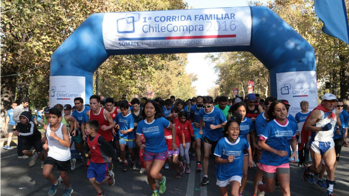 Más de un millar de personas participan de primera edición de corrida ChileCompra