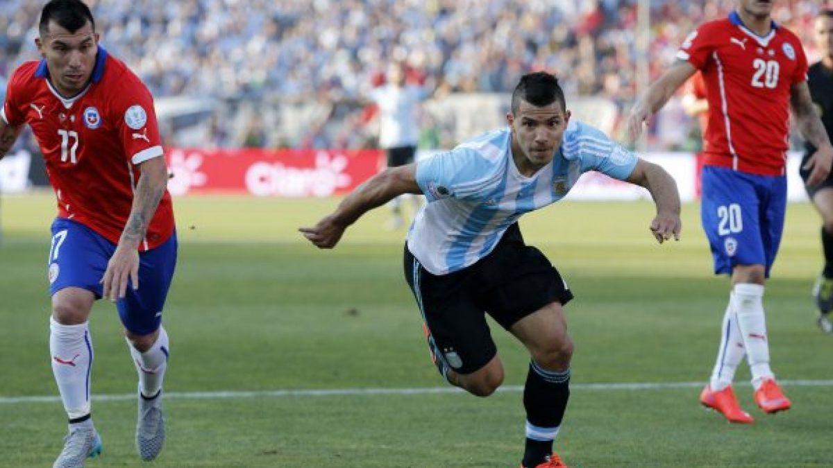 """Sergio Agüero apunta a """"La Roja"""": """"Chile es un rival muy complicado, sobre todo en su casa"""""""