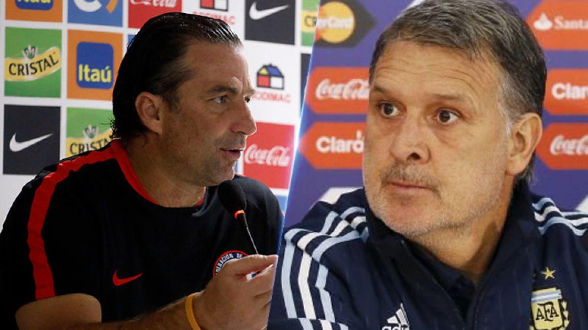 El parejo registro entre Pizzi y Martino de cara al duelo Chile-Argentina