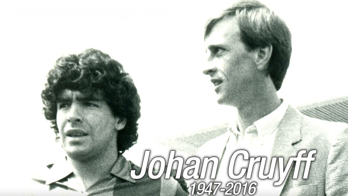 Lionel Messi y Diego Maradona rinden sentido homenaje a Johan Cruyff