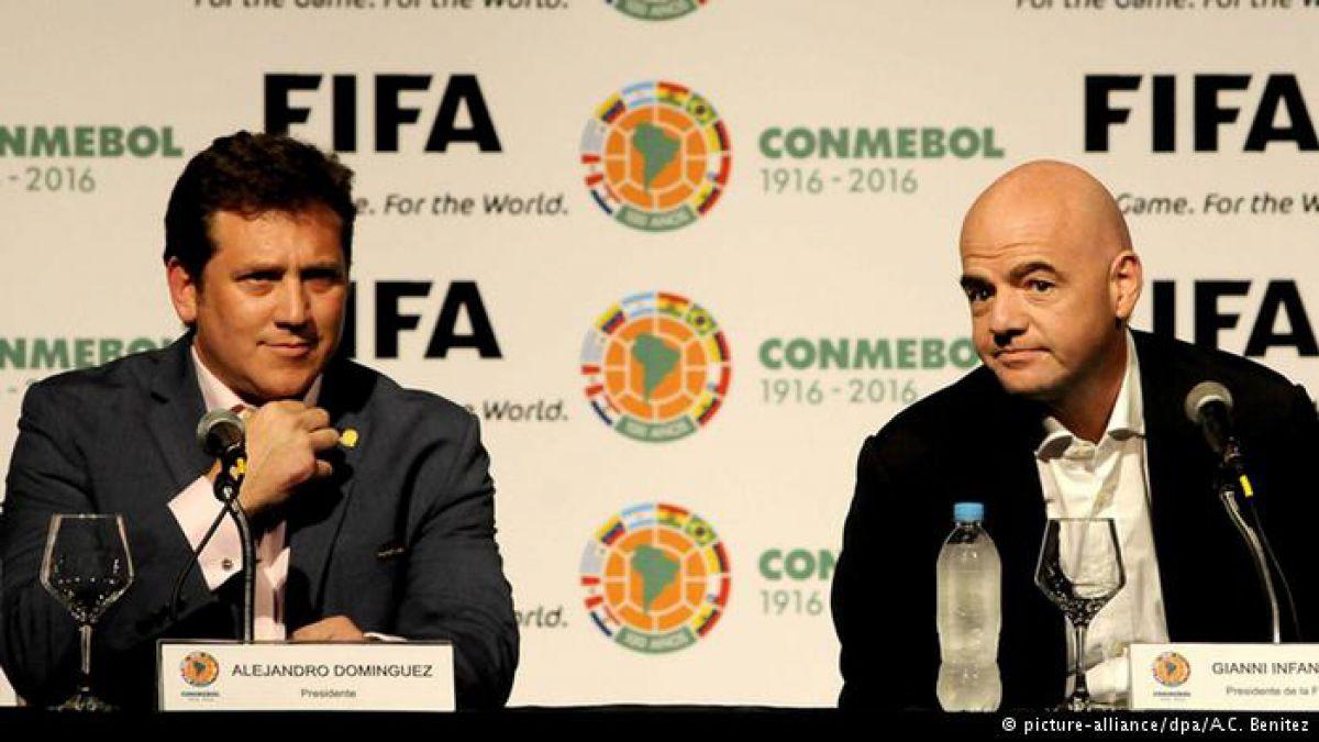 Presidentes de FIFA y Conmebol de gira por Sudamérica