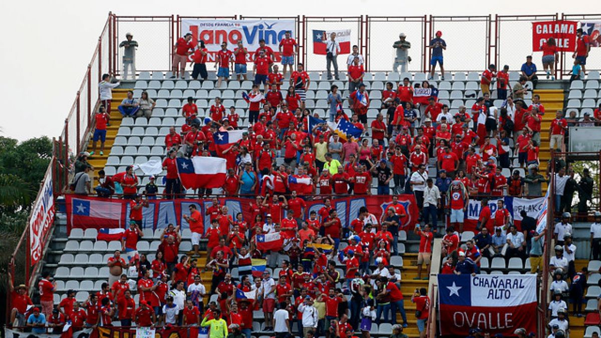 Himno de Chile no se escuchó en la previa del choque ante Venezuela