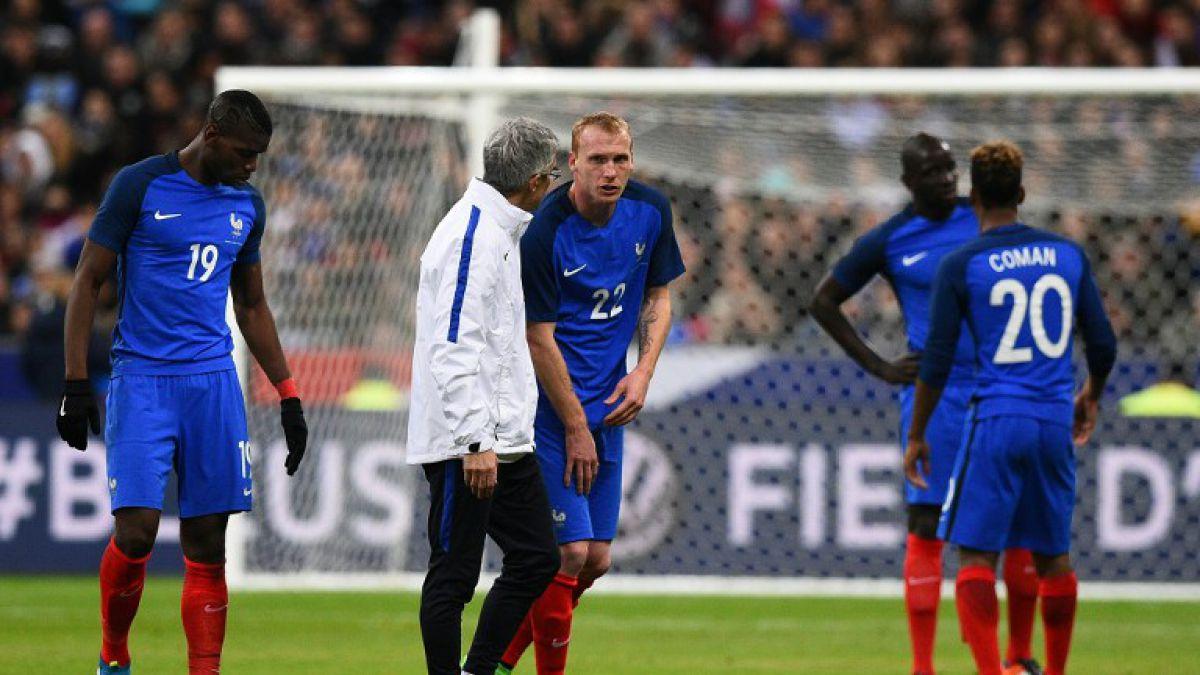 Selección de Francia suma una nueva baja en la defensa para la Eurocopa