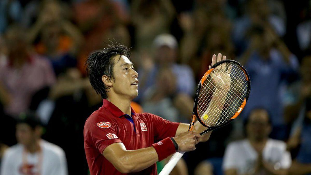 Japonés Nishikori luchará ante Djokovic por el título de campeón del Masters 1000 de Miami