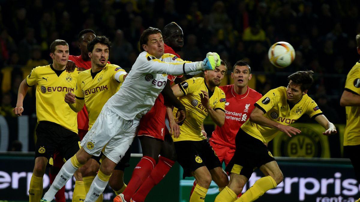 Dortmund y Liverpool no se sacaron diferencias por Europa League