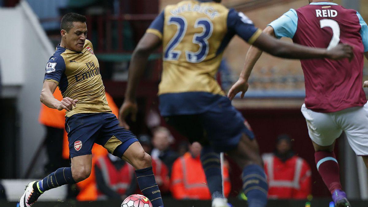 Así fue el gol con el que Alexis Sánchez impuso el 2-0 ante el West Ham United