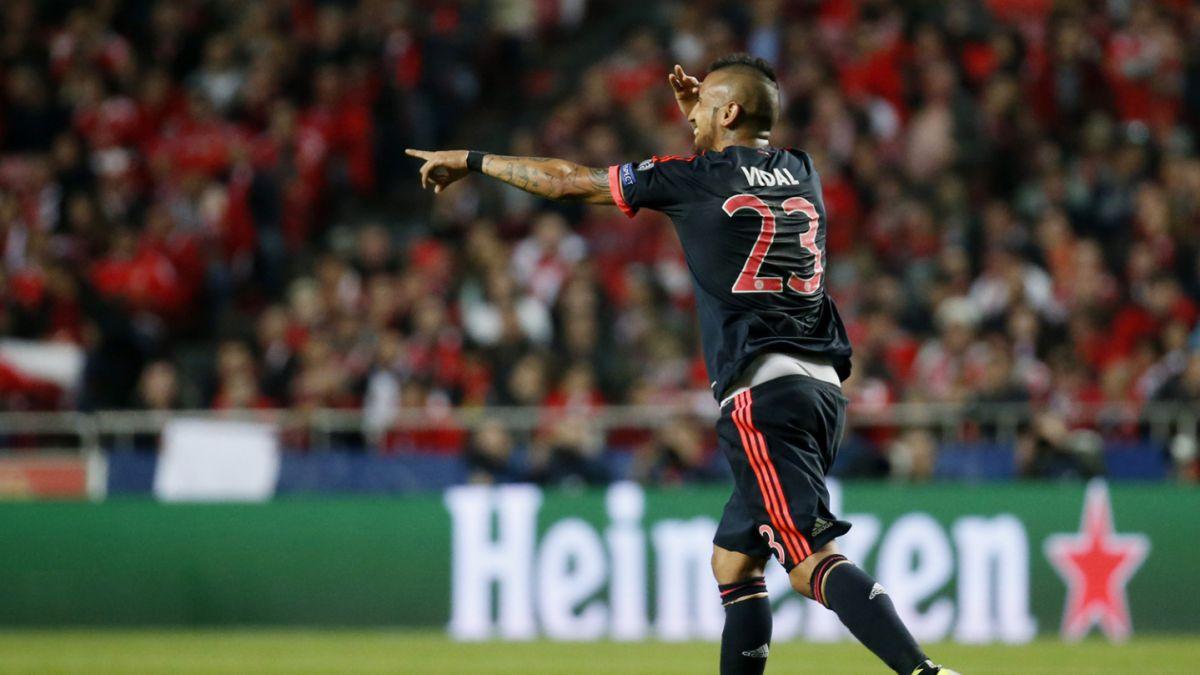 [VIDEO] El golazo de Arturo Vidal que significó el empate parcial del Bayern