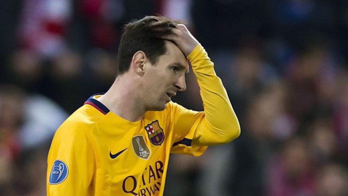 Lionel Messi lleva cinco partidos sin marcar un gol.
