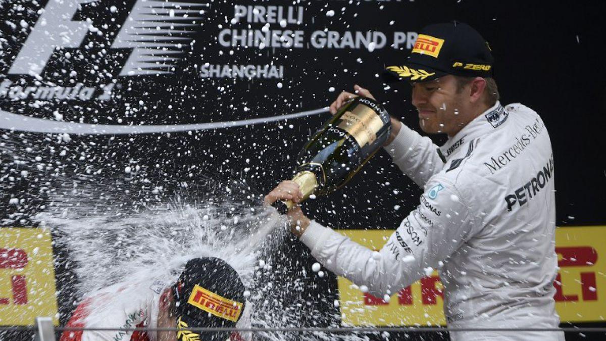 Alemán Nico Rosberg gana GP de China y sigue liderando la Fórmula Uno