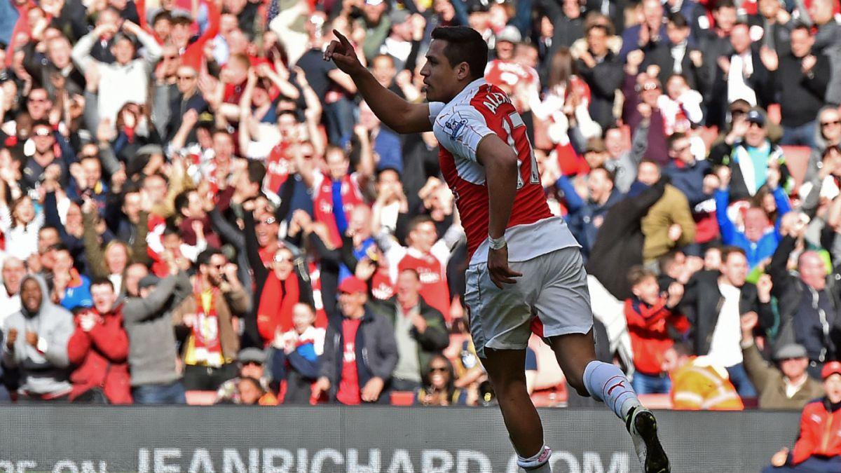 Alexis Sánchez anota en empate de Arsenal frente a Crystal Palace