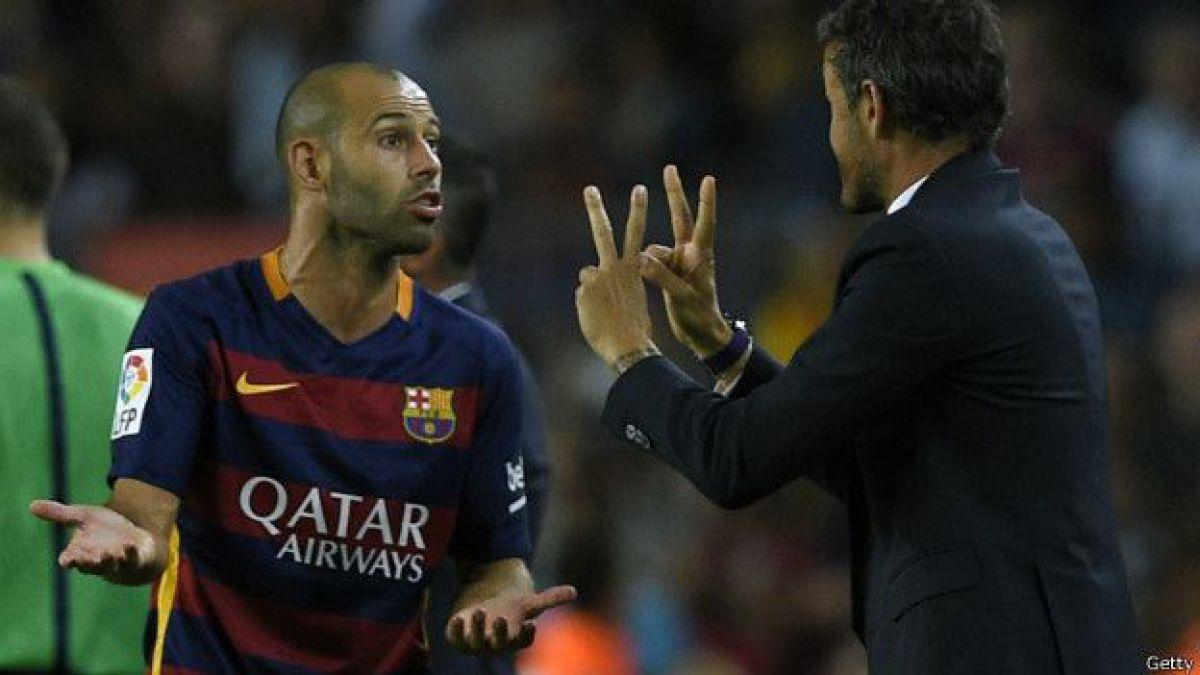 """Al argentino Javier Mascherano le han encomendado la tarea de """"pacificar"""" el ambiente en el club."""