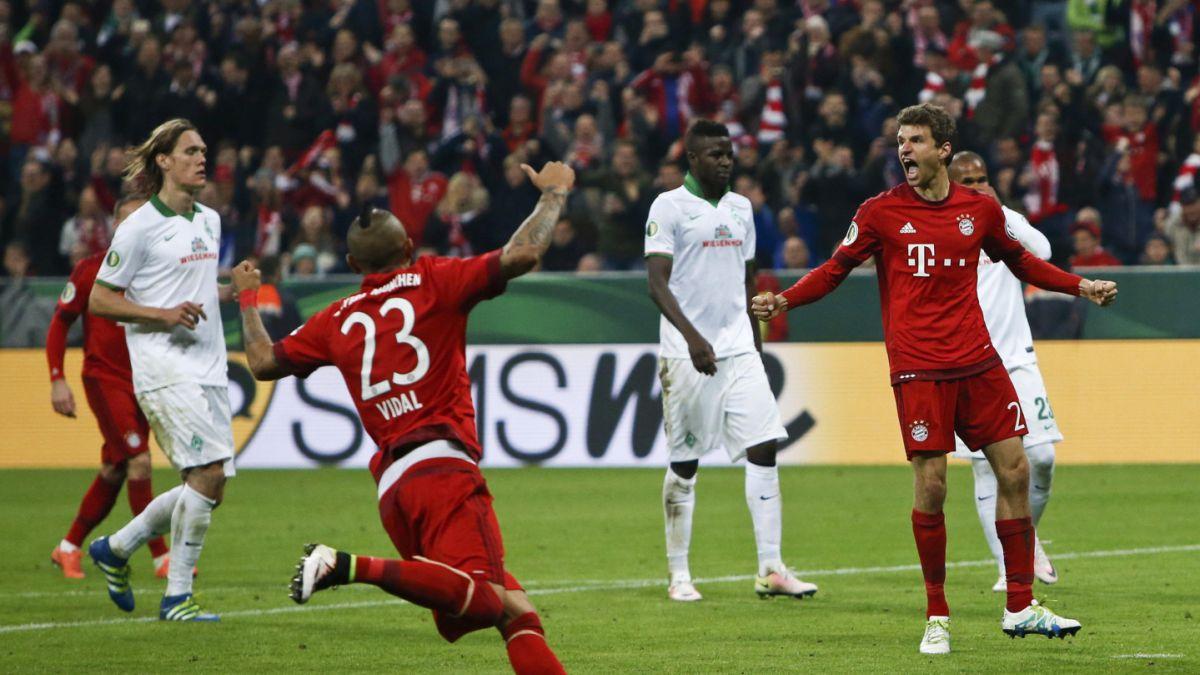 Bayern pasa a la final de la Copa de Alemania con penal fabricado por Arturo Vidal