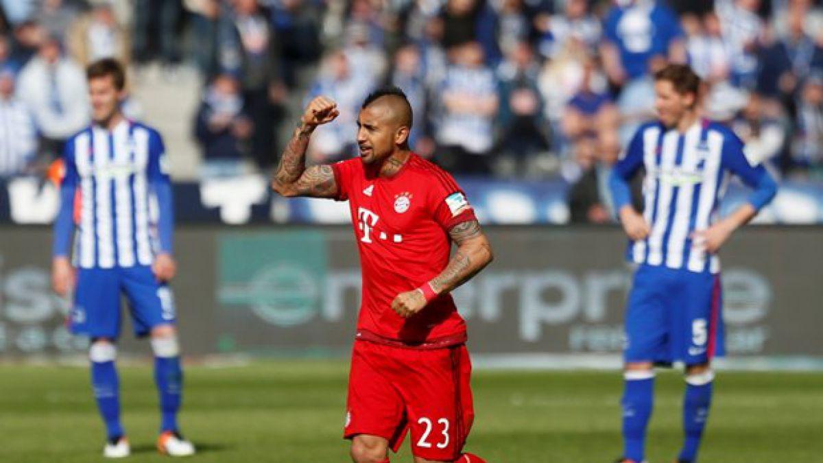[Minuto a Minuto] Vidal anota en victoria parcial del Bayern ante el Hertha en Alemania