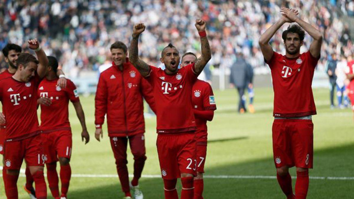 Vidal aporta con un gol en victoria de un Bayern que acaricia el título de la Bundesliga
