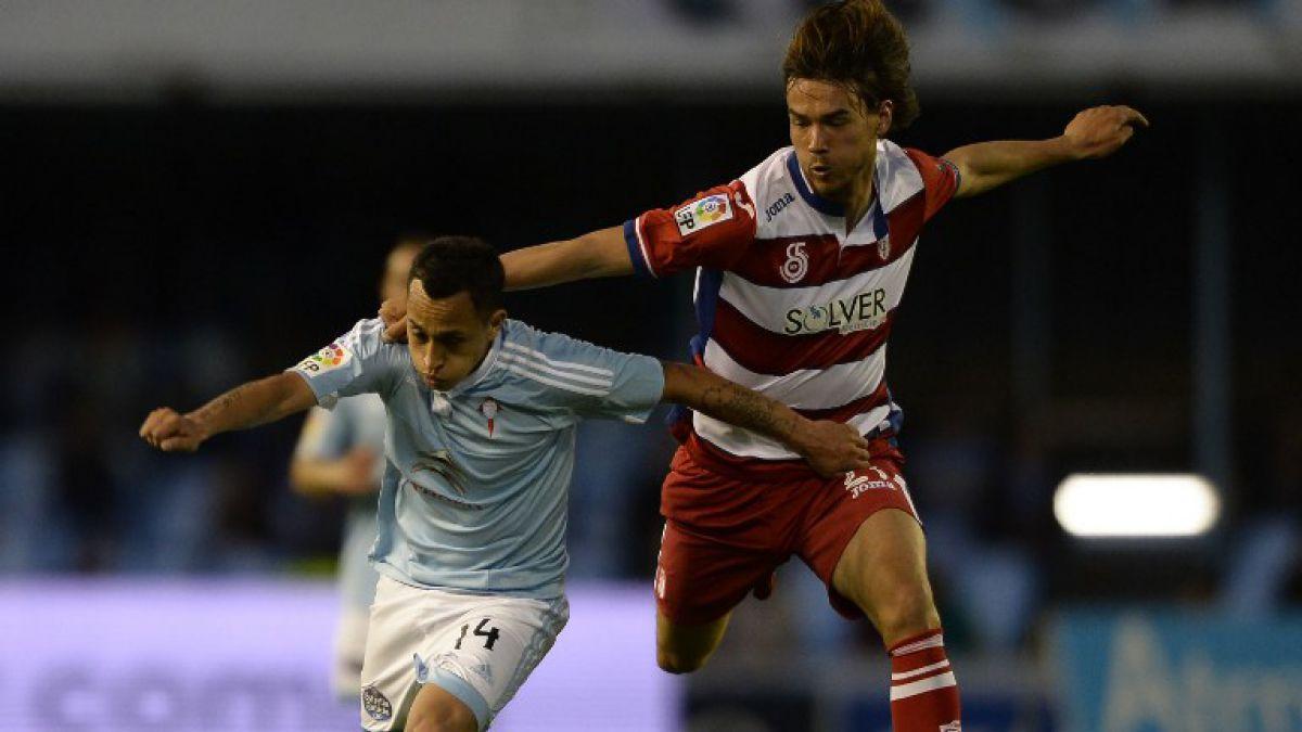 """Celta de Vigo con su """"armada chilena"""" se impone ante el Granada bajo la mirada de Pizzi"""